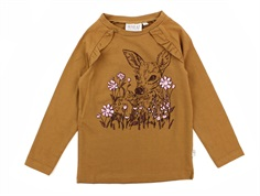 Wheat t-shirt caramel deer