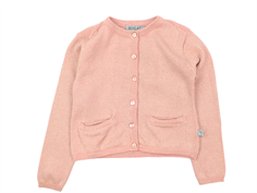 Wheat cardigan Ibi rose tan glitter