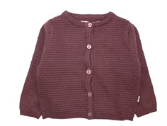 Wheat cardigan Manuela soft eggplant