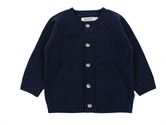 Wheat cardigan navy