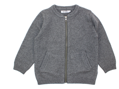Wheat cardigan Chris dark melange grey bomuld/uld