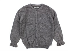 Wheat cardigan Mejse dark melange grey glitter