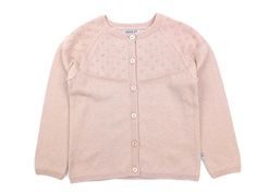 Wheat cardigan Olefine rose powder bomuld/uld