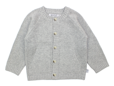 Wheat cardigan melange grey classic