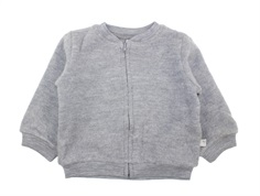 Wheat cardigan melange grey uld