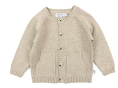 Wheat cardigan melange sand