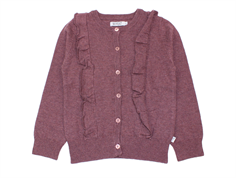 Wheat cardigan Ingrid eggplant melange