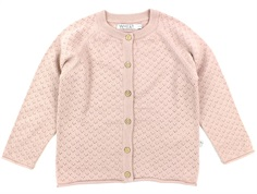 Wheat cardigan Hera rose powder uld