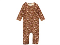 Wheat jumpsuit nutella flowers
