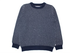 Wheat pullover Magne navy bomuld/uld