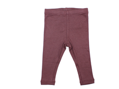 Wheat leggings rib soft eggplant