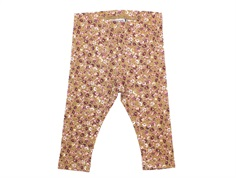 Wheat leggings caramel flowers