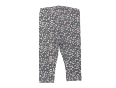 Wheat leggings greyblue blomster