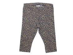 Wheat leggings greyblue flowers
