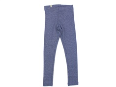 Wheat leggings rib blue melange