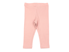 Wheat leggings rib rose tan