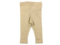Wheat leggings rib sand melange