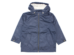 Wheat overgangsjakke/windbreaker Folke navy melange