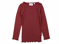 Wheat t-shirt rib burgundy med blonde