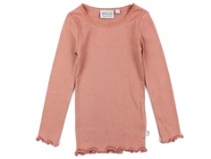 Wheat t-shirt rib soft rouge med blonde