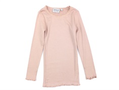 Wheat t-shirt rib rose powder med blonde