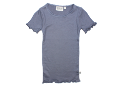 Wheat rib t-shirt grisaille lace