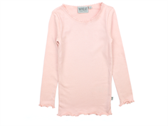 Wheat rib t-shirt soft rose lace lang