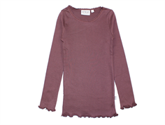 Wheat t-shirt rib lace soft eggplant