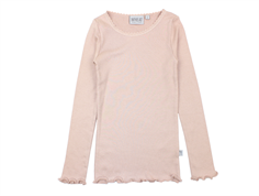 Wheat t-shirt rib lace rose powder