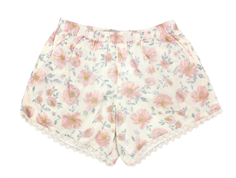 Wheat shorts Ina ivory blomster