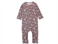Wheat jumpsuit soft eggplant blomster