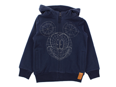 Wheat sweat cardigan Mickey navy