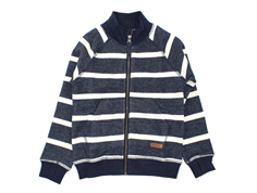 Wheat sweat cardigan Teddy navy striber