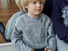 Wheat sweatshirt Spider-man melange grey