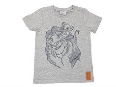 Wheat t-shirt Lion family melange grey