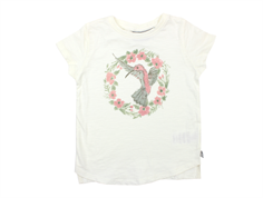 Wheat t-shirt flower bird ivory