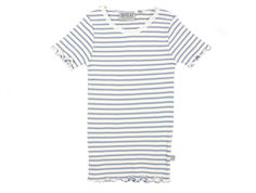 Wheat t-shirt rib dove stripes short