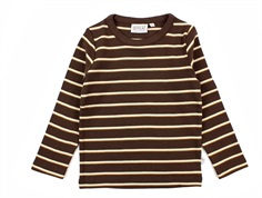 Wheat t-shirt brown striber