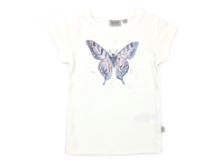 Wheat t-shirt watercolour butterfly ivory
