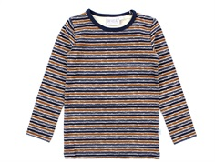 Wheat t-shirt midnight blue stripe