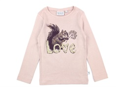 Wheat t-shirt rose powder squirrel