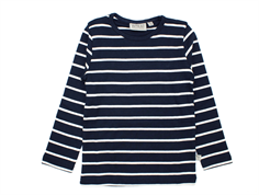 Wheat t-shirt navy striber