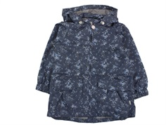 Wheat windbreaker Elinor greyblue flower