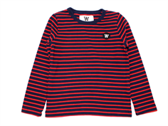 Wood Wood bluse Kim navy/red stripes