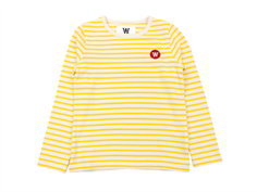 Wood Wood bluse Kim offwhite/yellow stripes