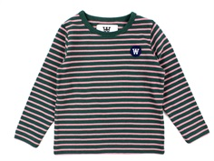 Wood Wood bluse Kim faded green/rose stripes