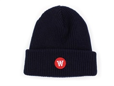 Wood Wood beanie Fox navy uld/polyamid