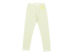 Wood Wood leggings Ira offwhite/olive stripes