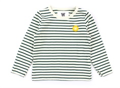 Wood Wood bluse Kim offwhite/faded green stripes