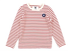 Wood Wood bluse Kim offwhite/red stripes